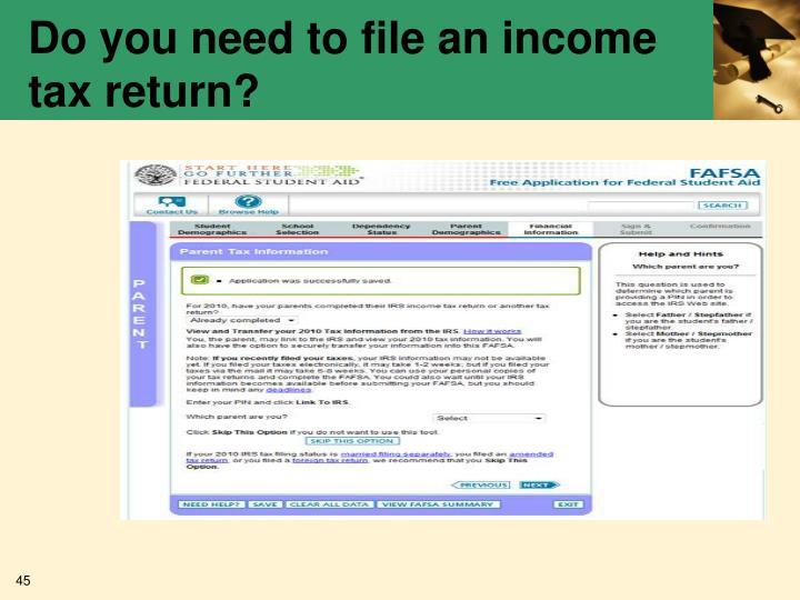 Do you need to file an income tax return?
