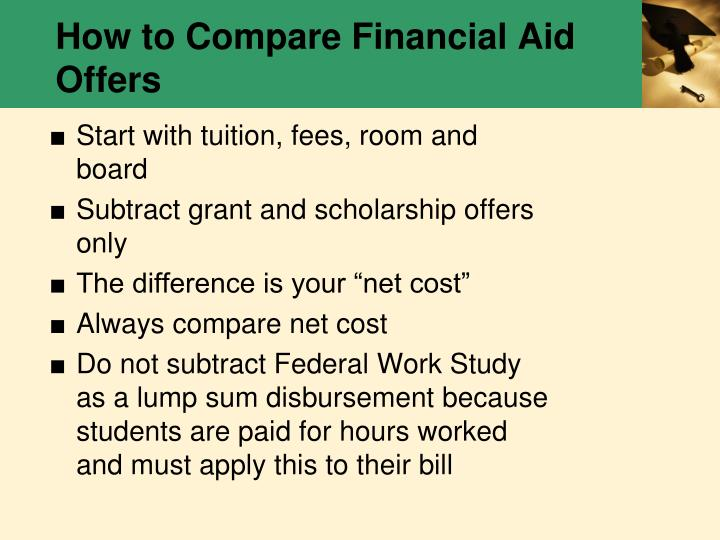 How to Compare Financial Aid Offers