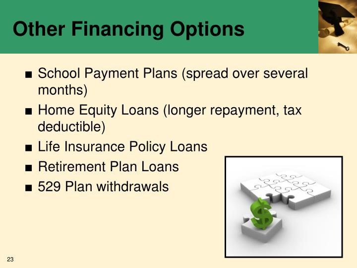 Other Financing Options