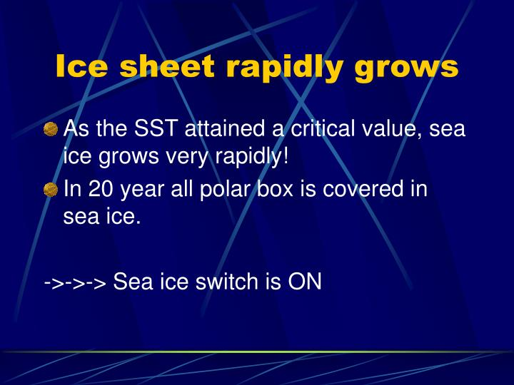 Ice sheet rapidly grows
