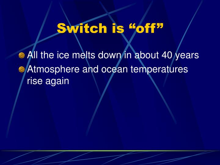 """Switch is """"off"""""""