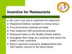 incentive for restaurants