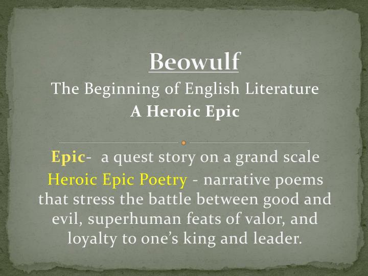 beowulf n.