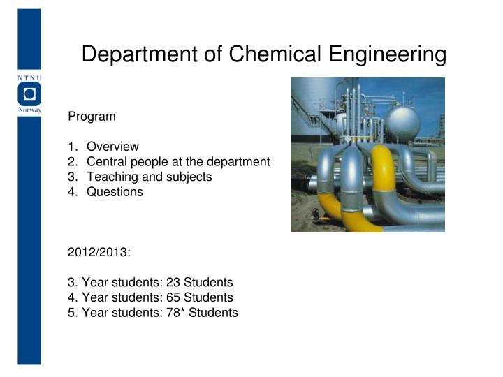 department of chemical engineering n.