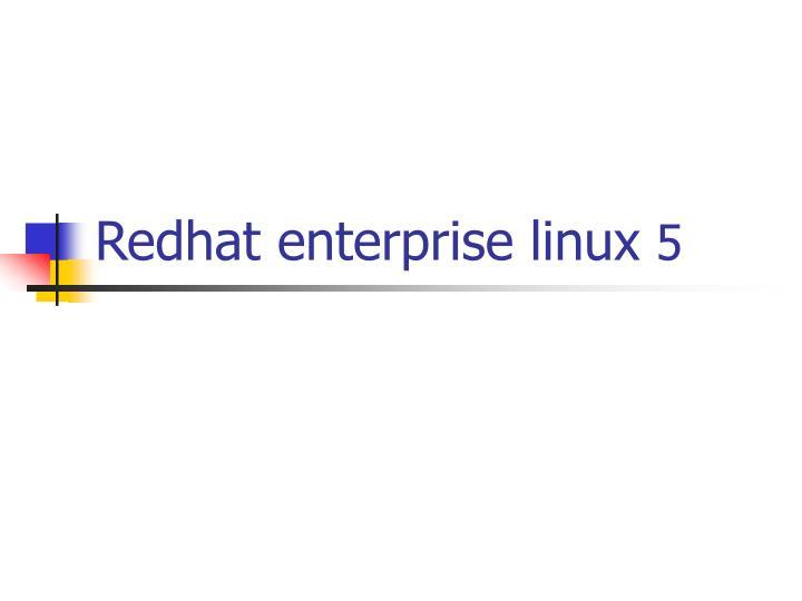 redhat enterprise linux 5 n.