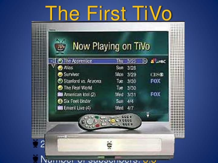 The First TiVo