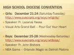 high school diocese convention