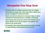 geospatial one stop goal