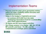 implementation teams