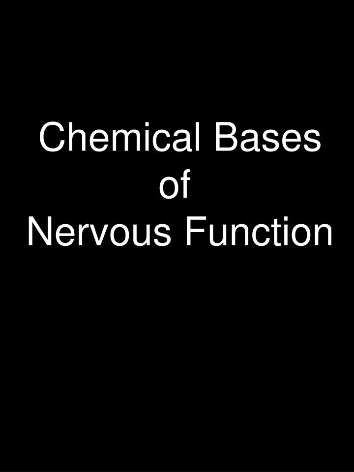 Chemical Bases