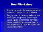 doel workshop