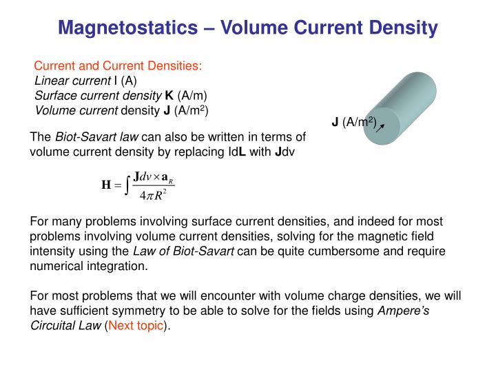 how to find current density