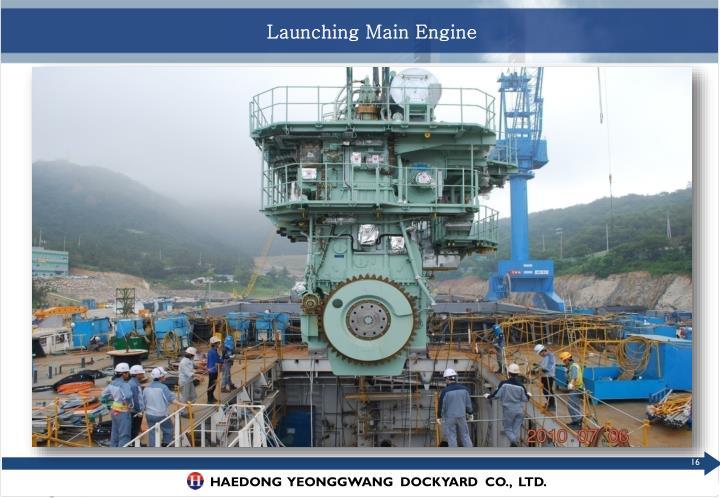 Launching Main Engine