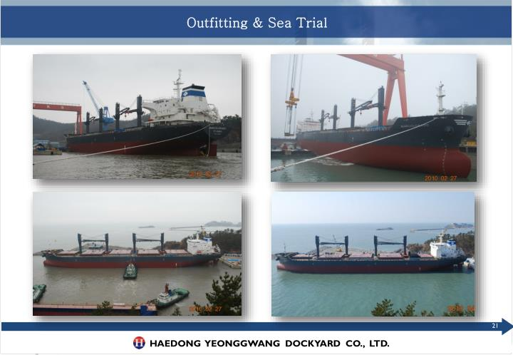 Outfitting & Sea Trial