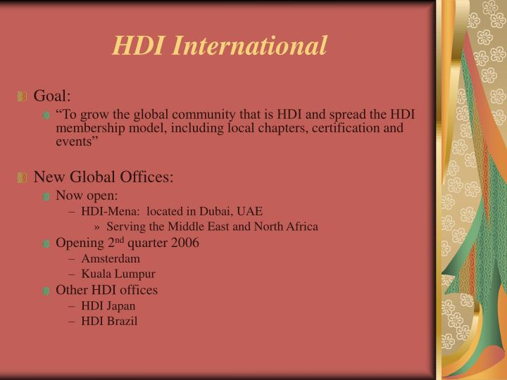HDI International