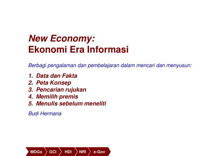 New Economy: