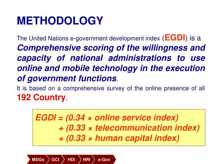 EGDI = (0.34 × online service index)