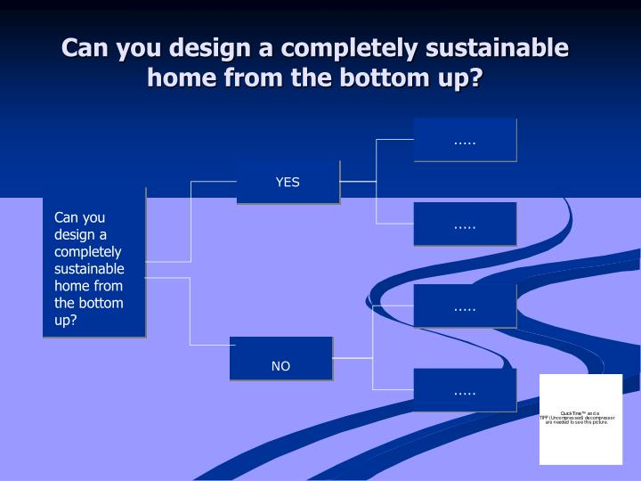 Can you design a completely sustainable home from the bottom up?