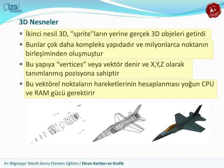 3D Nesneler