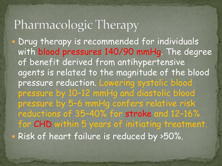 pharmacologic therapy n.