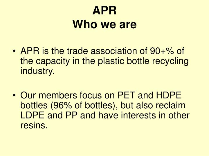 Apr who we are