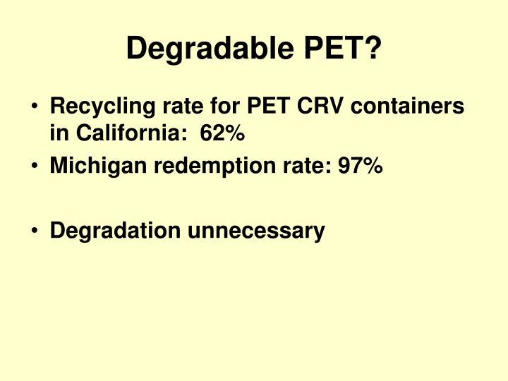 Degradable PET?