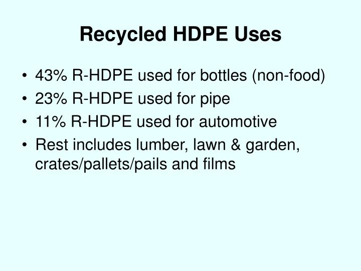 Recycled HDPE Uses