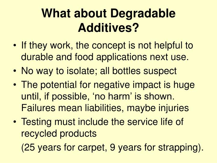 What about Degradable Additives?