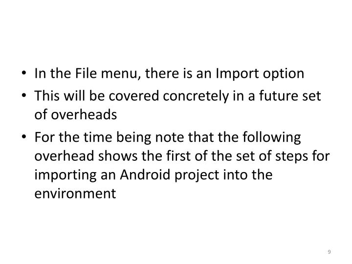 In the File menu, there is an Import option