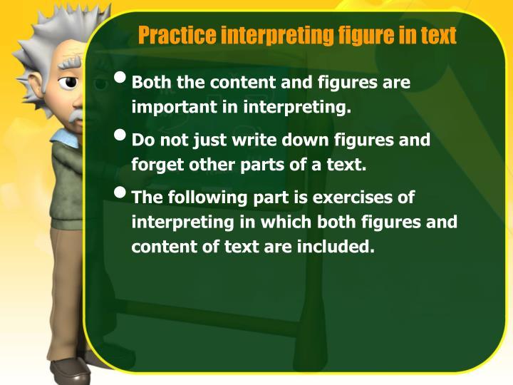 Practice interpreting figure in text