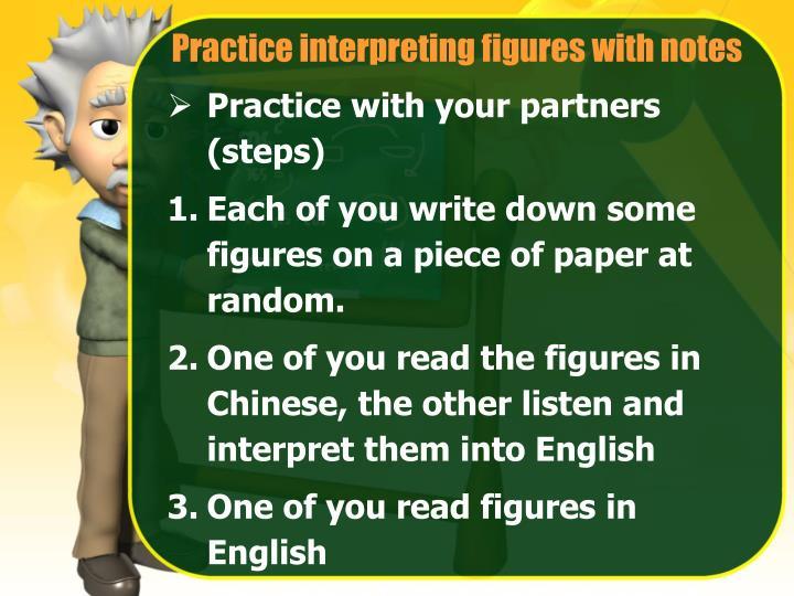 Practice interpreting figures with notes