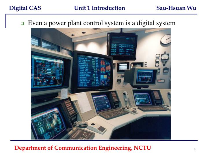 Even a power plant control system is a digital system