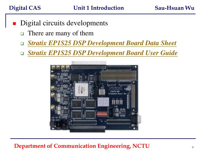 Digital circuits developments