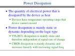 power dissipation
