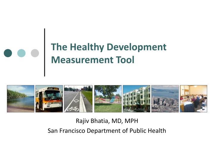 the healthy development measurement tool n.