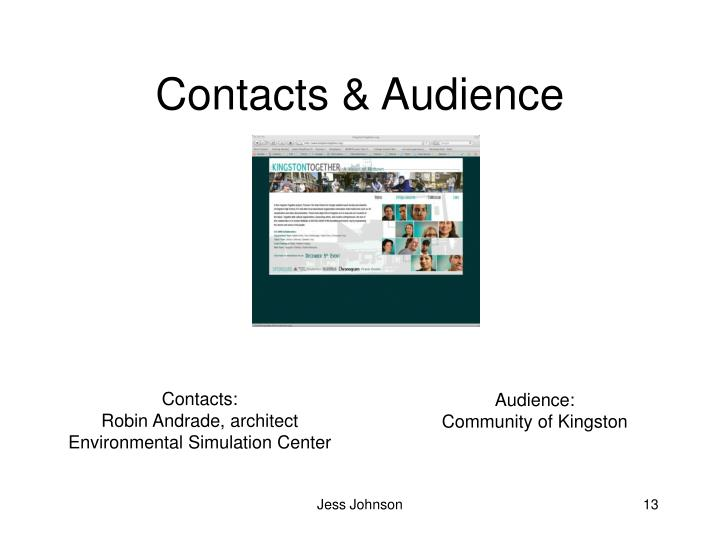 Contacts & Audience