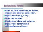 technology found