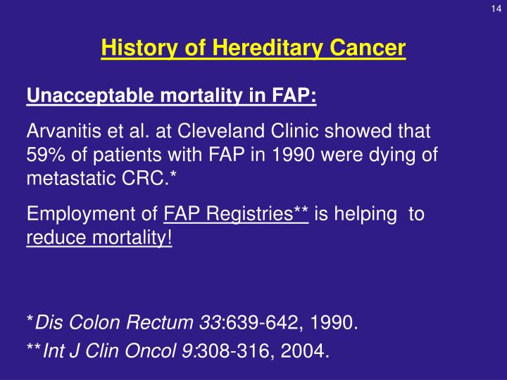History of Hereditary Cancer