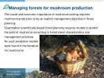 managing forests for mushroom production