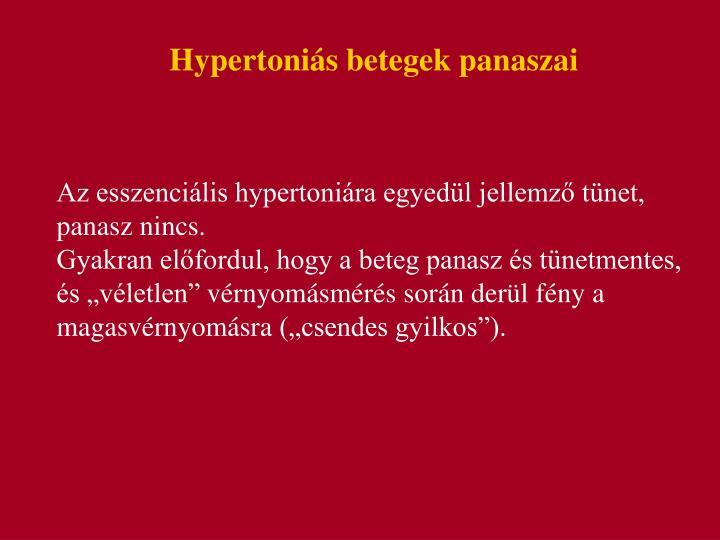 Hypertoniás betegek panaszai