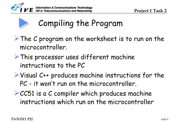 Compiling the Program