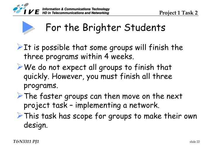 For the Brighter Students