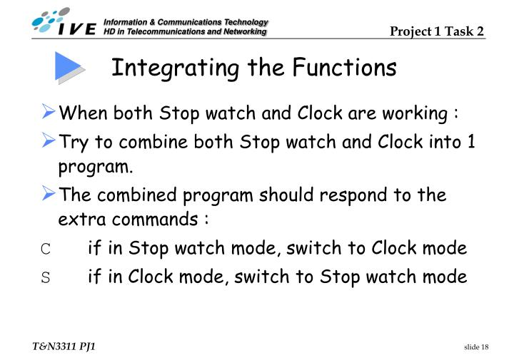 Integrating the Functions