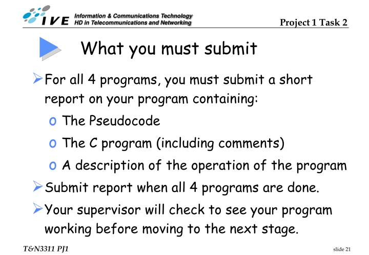 What you must submit