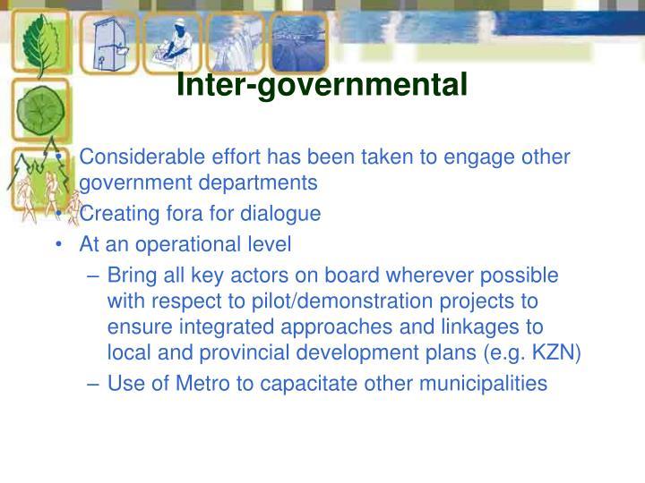 Inter-governmental
