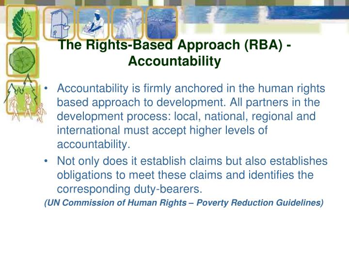 The Rights-Based Approach (RBA) -Accountability