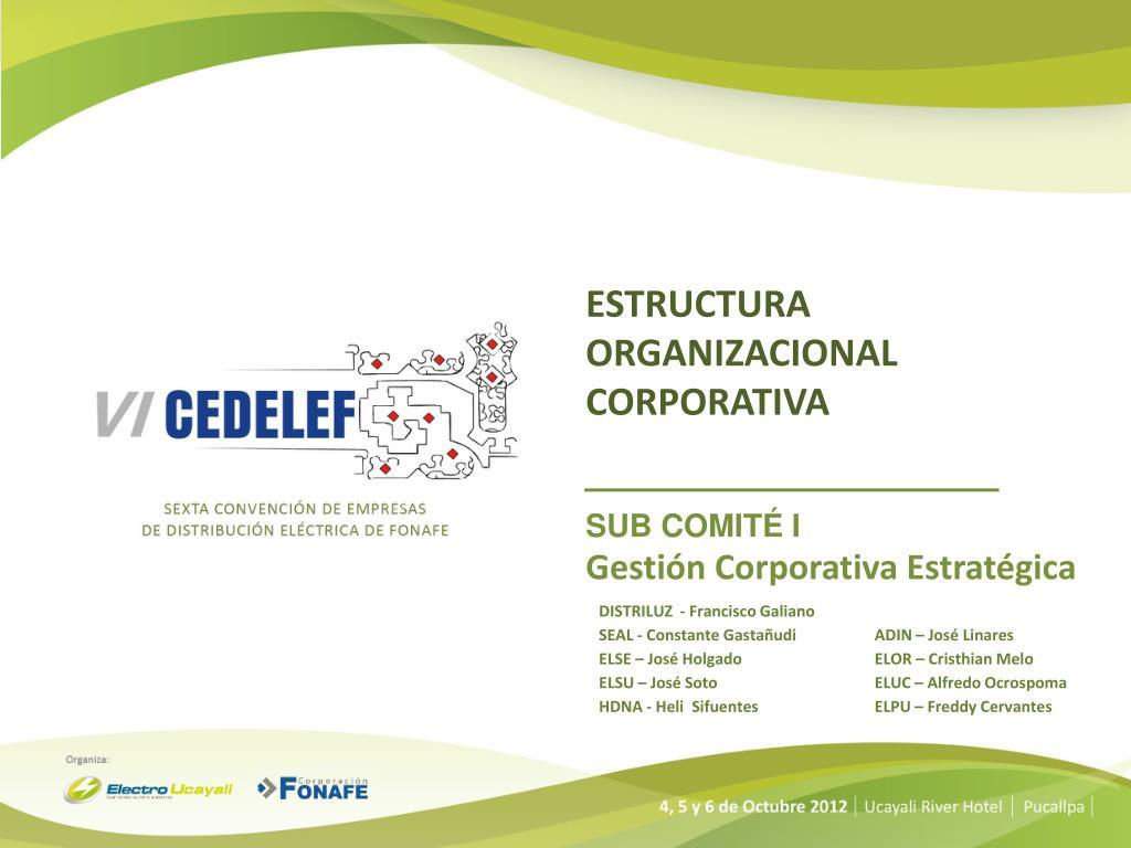 Ppt Estructura Organizacional Corporativa Powerpoint