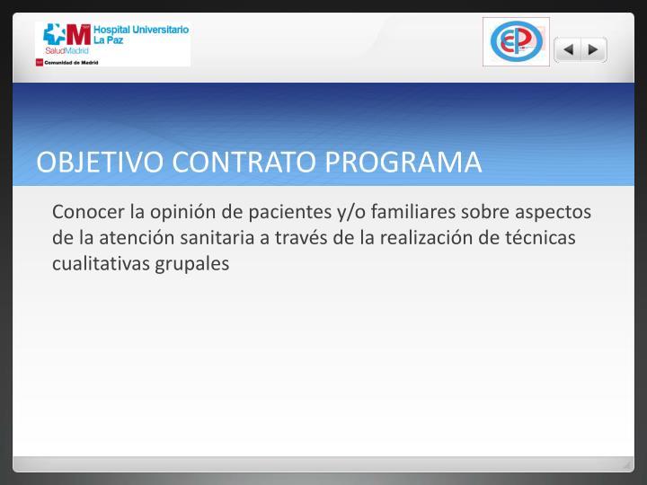 Objetivo contrato programa