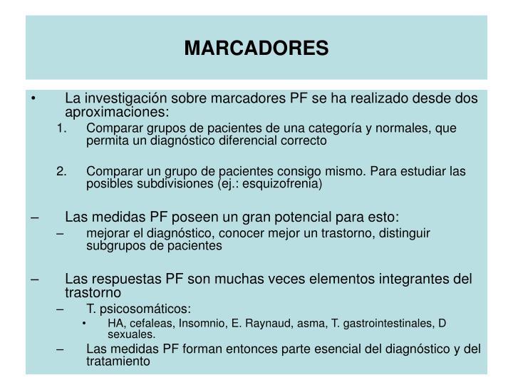 MARCADORES