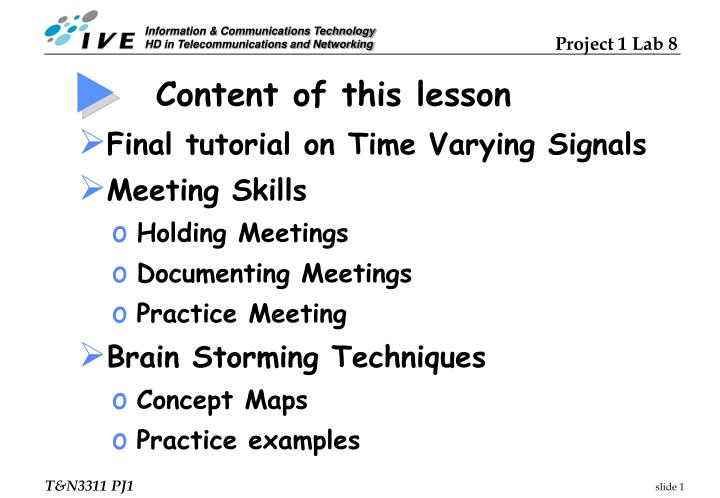 Content of this lesson